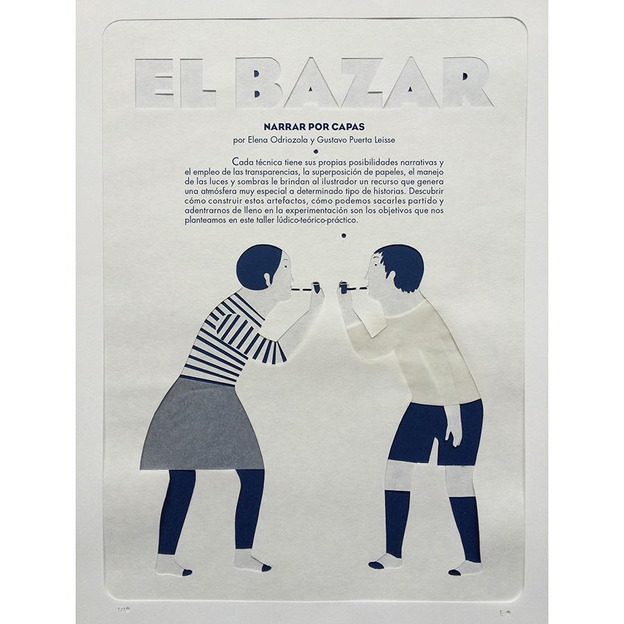 Ilustración en capas de Elena Odriozola