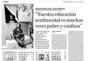 Diario de Navarra artículo Sentimientos encontrados