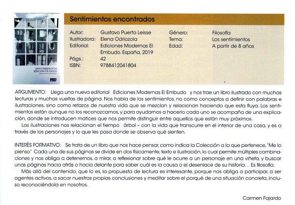 Reseña en Revista Lazarillo