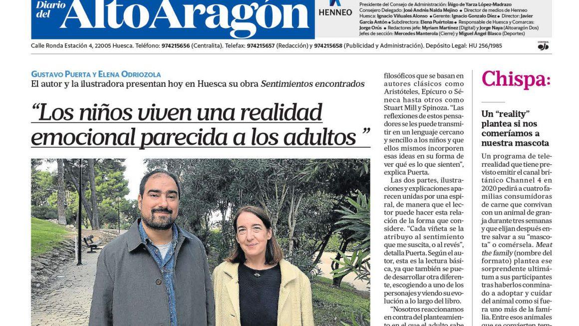 Artículo en Diario Alto Aragón