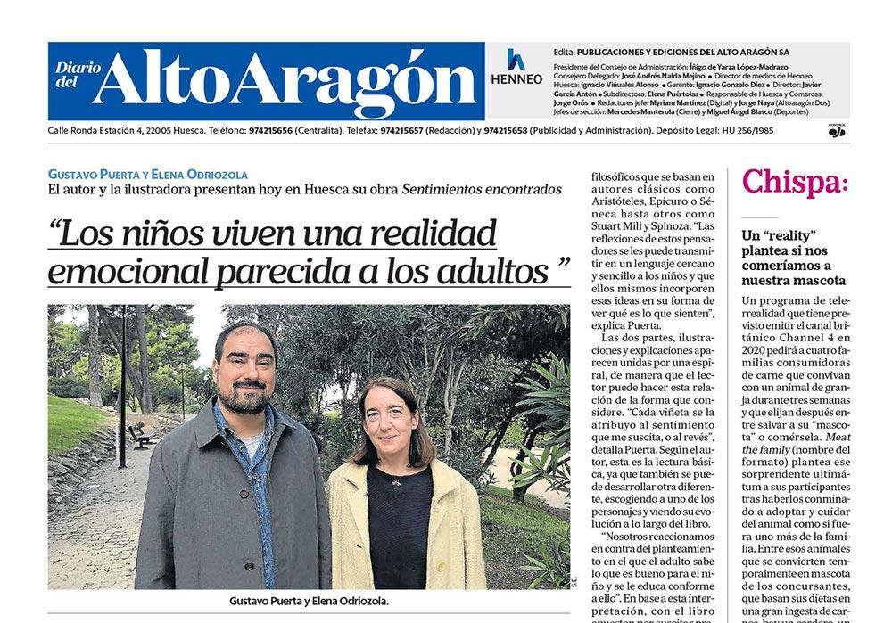Diario Alto Aragón Gustavo Puerta y Elena Odriozola