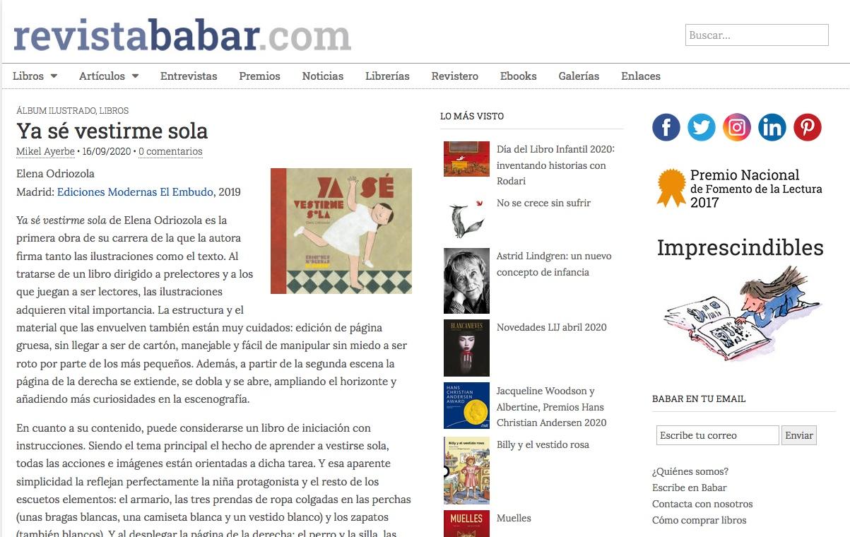 Reseña Revista Babar Mikel Ayerbe