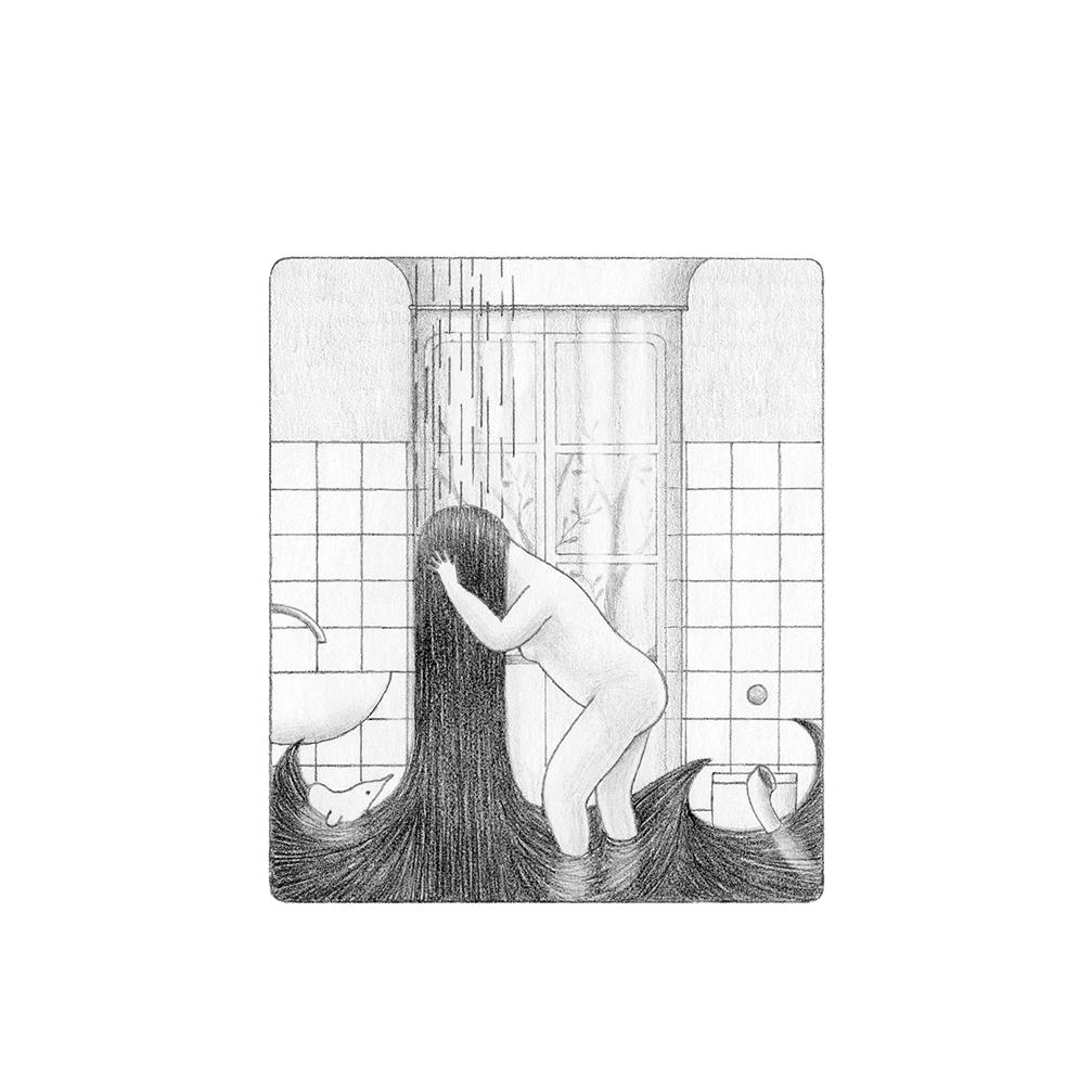 Ilustración Necesitaba un baño Elena Odriozola