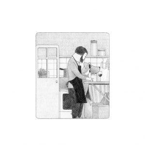 Ilustración En la cocina Elena Odriozola
