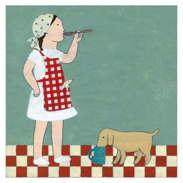 Ilustración Desayuno compartido de Elena Odriozola