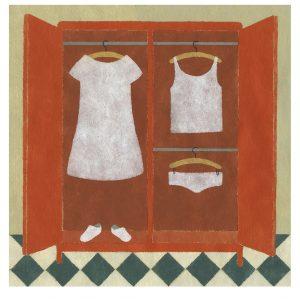 Ilustración armario ropero de Elena Odriozola