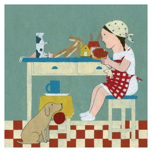 Ilustración Desayunando de Elena Odriozola
