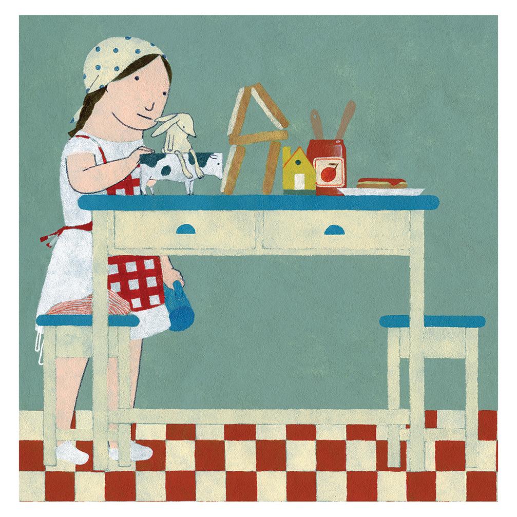 Ilustración Leche de Elena Odriozola